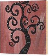 Tree I Wr Wood Print