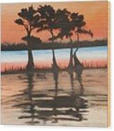 Tree Kings Wood Print