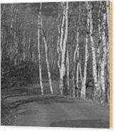 Tree Loop B And W Wood Print