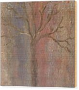 Tree - Metallic 1 Wood Print