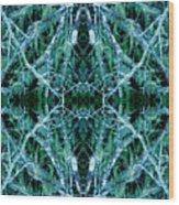 Tree Moss Mandala Wood Print
