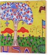 Tree Of Freedom And Glory Wood Print