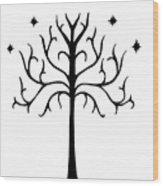 Tree Of Gondor Crest Wood Print