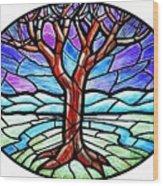 Tree Of Grace - Winter Wood Print