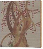 Tree Of Hearts Wood Print
