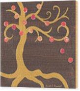 Tree Of Life - Left Wood Print by Kristi L Randall