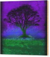 Tree Of Life - Purple Sky Wood Print