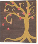 Tree Of Life - Right Wood Print by Kristi L Randall