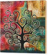 Tree Of Life Wood Print by Jaison Cianelli
