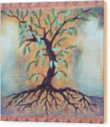 Tree Of Life Wood Print by Kathy Braud
