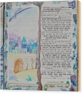 tree of life ketubah -Conservative version Wood Print