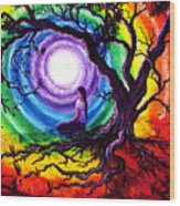 Tree Of Life Meditation Wood Print