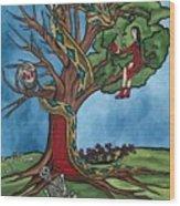 Tree Of Life Temptation And Death Wood Print