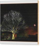 Tree Of Light Wood Print