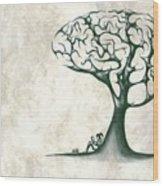 Tree Of Lknowledge Wood Print