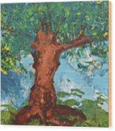 Tree Of Plenty Wood Print