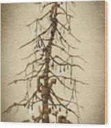 Tree Of Rust Wood Print
