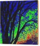 Tree One Wood Print