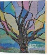 Tree Petals Wood Print