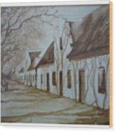 Tree Shadows Wood Print by Barbi Vandewalle
