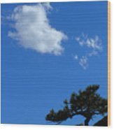 Tree Sky Cloud Wood Print