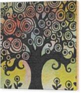 Tree Song Wood Print