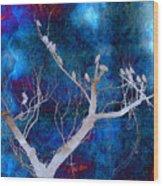 Tree Top Flock Wood Print