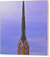 Tree Top Steeple Wood Print