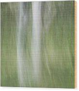 Tree Trunk Motion Wood Print