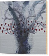 Tree With Balls Five Wood Print