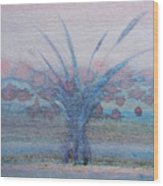 Tree With Balls Four Wood Print