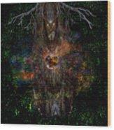 Tree Wizard Wood Print