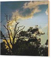 Treeline Silhouette Wood Print