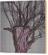 Treepot Wood Print