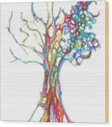 Trees 17 Wood Print