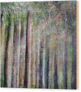 Trees 2 Wood Print