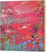 Trees 67 Wood Print