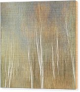 Trees Ethereal Grove Wood Print