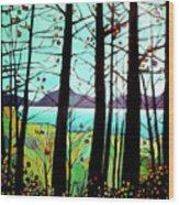 Trees In Fall Wood Print