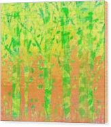 Trees In The Grass Wood Print