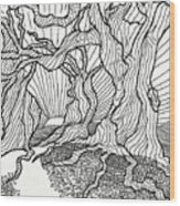 Trees In The Woods   Wood Print