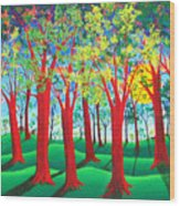Trees of Red Wood Print
