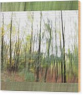 Trees On The Move Wood Print