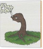 Trees Smokin' Trees Wood Print