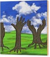 Trees #0078 Wood Print