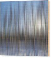 trees Alaska blue abstract Wood Print