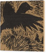 Treetop Crow Wood Print