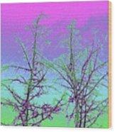 Treetops 5 Wood Print