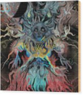Treewoman Awakens Wood Print