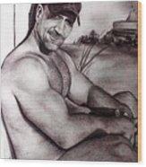 Trekman Mike Wood Print